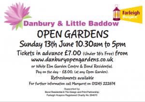 Danbury and Little Baddow Open Gardens